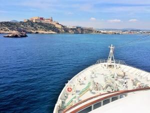 Einfahrt nach Ibiza