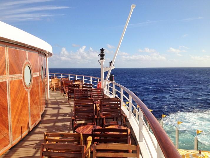 AIDAvita an Ihrem Seetag auf dem Weg nach Nassau