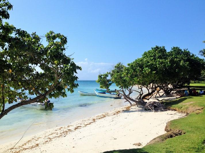 Blick auf die berühmte Bacardi-Insel, Cayo Lavantado