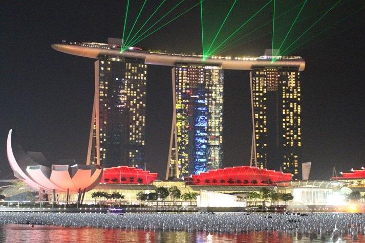 Das weltberühmte Marina Bay Sands Hotel