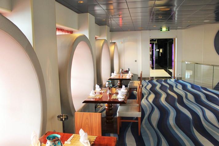 Das Sushi-'Blaue Welt Bar'-Restaurant