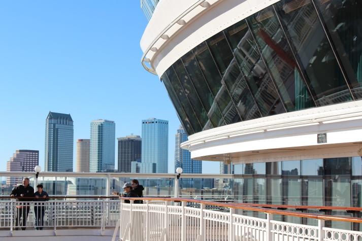 Beste Perspektive auf die Tampa Skyline