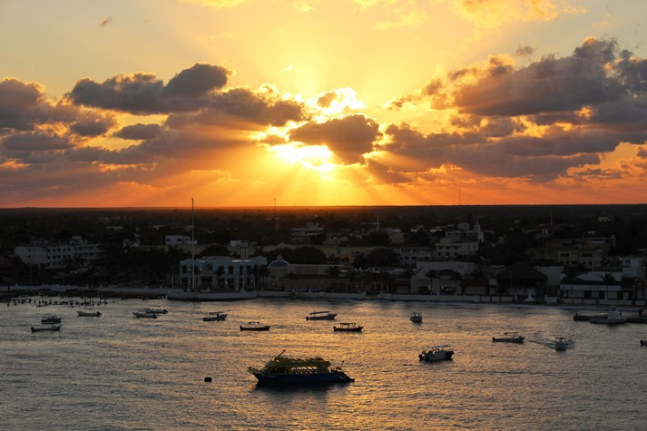 Sonnenaufgang über Cozumel