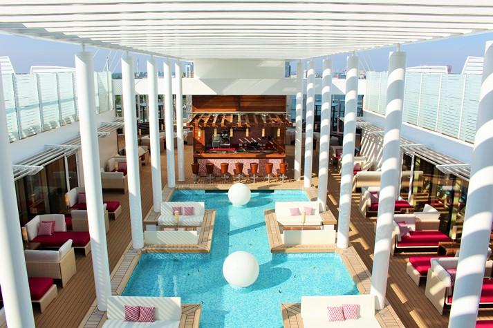 Das Patio Deck steht ausschließlich den Suitengästen zur Verfügung
