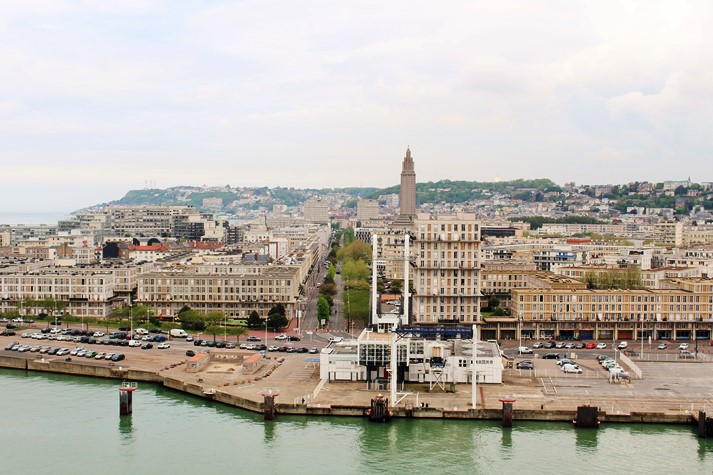 """Le Havre wurde im sogenannten """"Betonstil"""" nach dem Krieg aufbaut"""