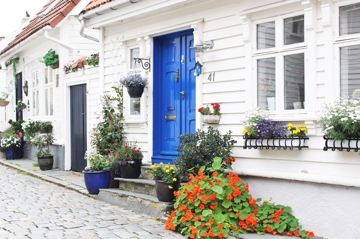 Die weiße Altstadt in Stavanger