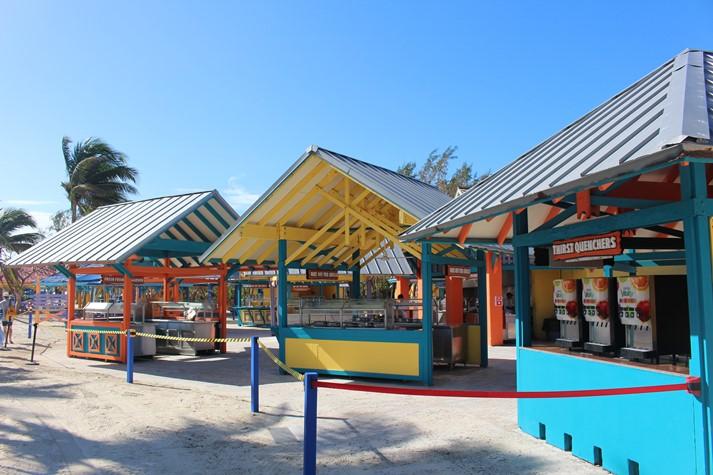Freies Beach BBQ-Buffet auf Coco Cay