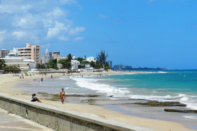 Strand von San Juan am Atlantischen Ozean