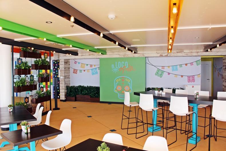 Das El Loco Fresh Restaurant ist auf DEck 16 gelegen
