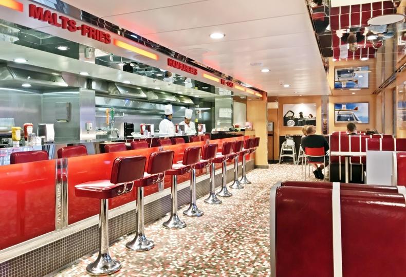 Das Johnny Rockets im Stil der American Diners der 1950er Jahre